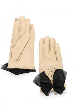 Перчатки Twin-Set Simona Barbieri. Цвет: бежевый