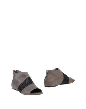 Ботинки INK. Цвет: серый