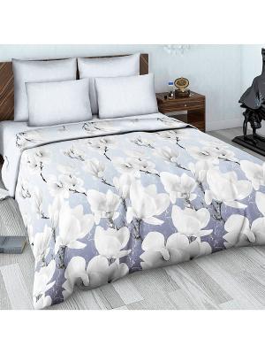 Комплект постельного белья Евро из сатина Василиса. Цвет: серый