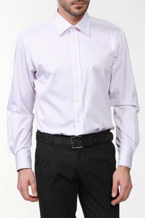 Рубашка REIKARTZ. Цвет: белый, сиреневый