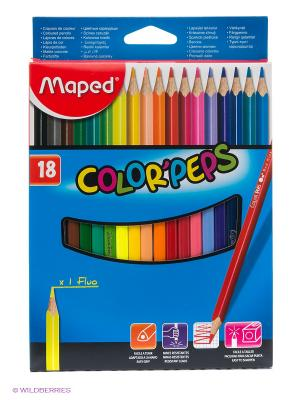 Набор цветных карандашей Maped. Цвет: синий