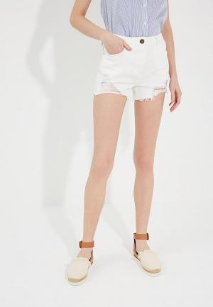 Шорты джинсовые Elisabetta Franchi. Цвет: белый