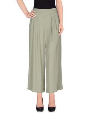 Повседневные брюки INTROPIA. Цвет: зеленый-милитари