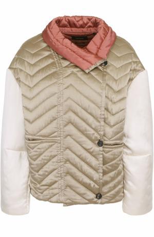 Шелковая стеганая куртка свободного кроя Isabel Marant. Цвет: бежевый