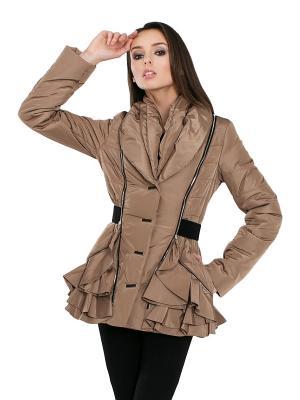 Куртка Alisa Line. Цвет: темно-бежевый