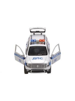 Машина RENAULT DUSTER Полиция металлическая инерционная 12 см. Технопарк. Цвет: синий, белый