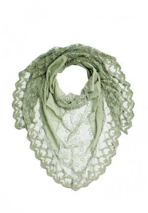 Платок Le Motif Couture. Цвет: зеленый