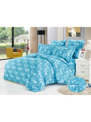 Комплект постельного белья, Одри , Евро KAZANOV.A.. Цвет: голубой, синий