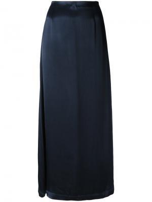 Прямая юбка Ganni. Цвет: синий