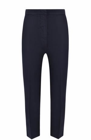 Укороченные брюки со стрелками и карманами Two Women In The World. Цвет: темно-синий
