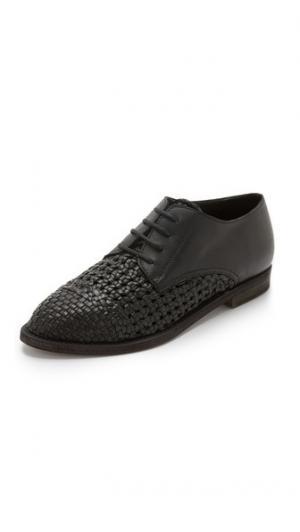 Ботинки на шнурках  Tone с плетением LD Tuttle. Цвет: голубой
