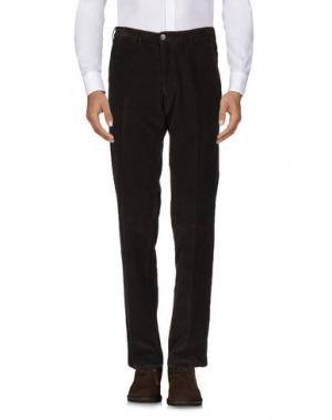 Повседневные брюки LUIGI BIANCHI MANTOVA. Цвет: темно-коричневый