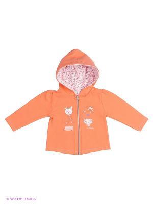 Толстовка Sanetta. Цвет: оранжевый