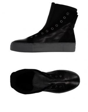 Высокие кеды и кроссовки LEA FOSCATI. Цвет: черный