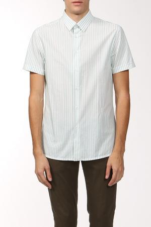 Рубашка Dirk Bikkembergs. Цвет: белый, голубая полоса