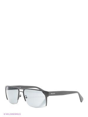 Очки солнцезащитные PRADA. Цвет: серый, темно-серый, бронзовый