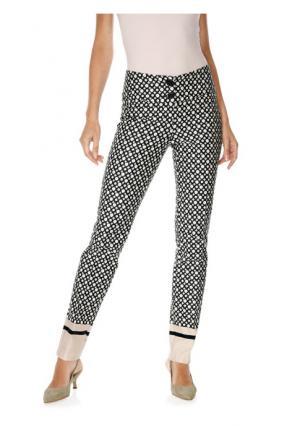 Моделирующие брюки Ashley Brooke. Цвет: черный/розовый