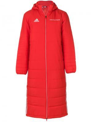 Стеганое пальто Gosha Rubchinskiy. Цвет: красный