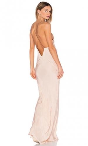 Платье с длинным вырезом TITANIA INGLIS. Цвет: румянец