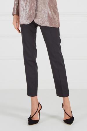 Черные классические брюки Gucci. Цвет: черный
