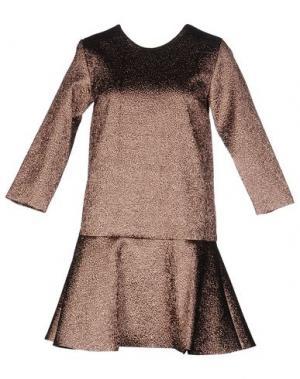 Короткое платье DRESS GALLERY. Цвет: медный