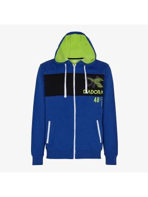 Куртка DIADORA. Цвет: синий, желтый, черный