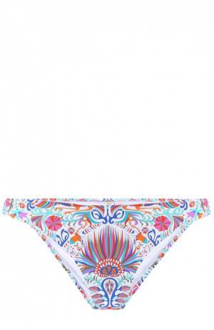 Плавки-бикини с контрастным принтом Lazul. Цвет: разноцветный