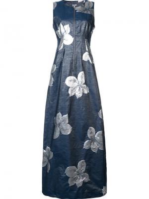 Жаккардовое платье на молнии Suno. Цвет: серый