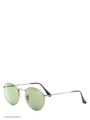 Очки солнцезащитные ROUND METAL Ray Ban. Цвет: темно-серый