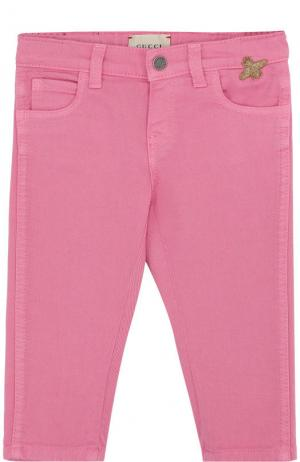 Зауженные джинсы Gucci. Цвет: фуксия