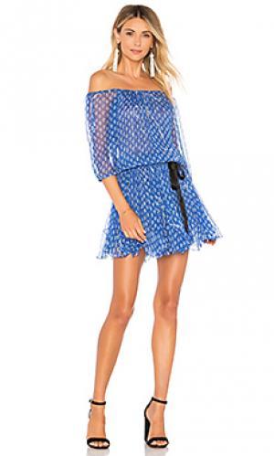 Платье Poupette St Barth. Цвет: синий
