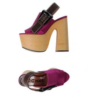 Мюлес и сабо ROCHAS. Цвет: розовато-лиловый