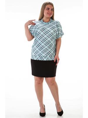 Блузка Koricohit. Цвет: зеленый, белый, черный