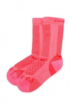 Термоноски Craft. Цвет: розовый