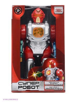 Робот  на батарейках свет+звук, руссифицирован Играем вместе. Цвет: красный, серый