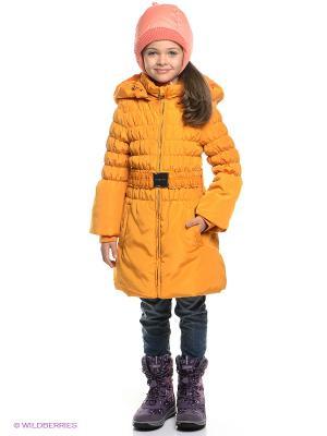Пальто MES AMI. Цвет: горчичный