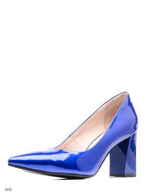 Туфли EVITA. Цвет: голубой