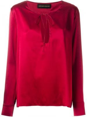 Блузка с вырезом замочная скважина Alexandre Vauthier. Цвет: красный