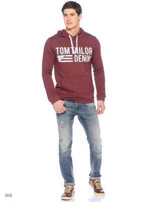 Толстовка TOM TAILOR. Цвет: красный