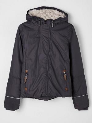 Куртка S.OLIVER. Цвет: темно-серый, коричневый