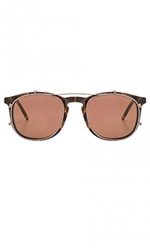 Солнцезащитные очки taylor KREWE du optic. Цвет: коричневый