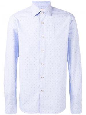 Рубашка с мелким узором Xacus. Цвет: синий