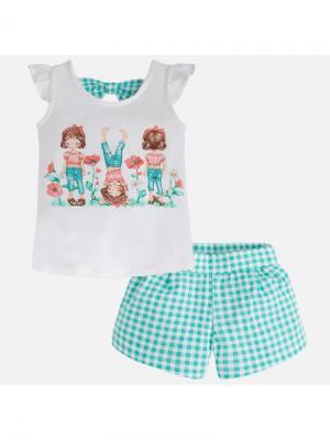 Комплект одежды Mayoral. Цвет: зеленый