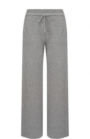 Широкие кашемировые брюки с карманами Loro Piana. Цвет: светло-серый