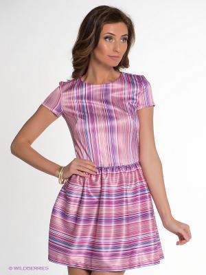 Платье Allezye. Цвет: розовый, бирюзовый, фиолетовый
