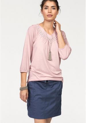 Туника BOYSENS BOYSEN'S. Цвет: джинсовый синий, розовый, светло-серый