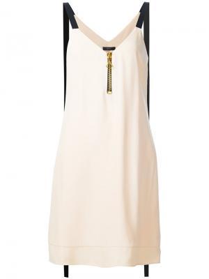 Платье с контрастными лямками Ellery. Цвет: розовый и фиолетовый