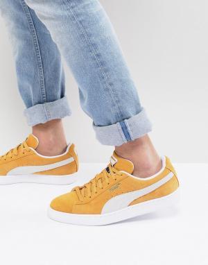 Puma Желтые классические замшевые кроссовки 36534710. Цвет: желтый