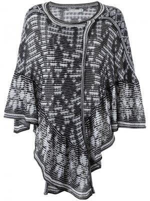 Knit poncho Cecilia Prado. Цвет: чёрный