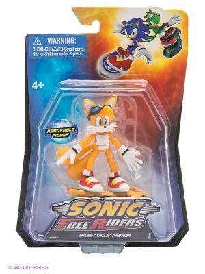 Фигурка-машинка Free Riders Tails Sonic. Цвет: желтый, синий